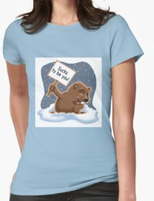 Punxy Phil Womens Fitted T-Shirt
