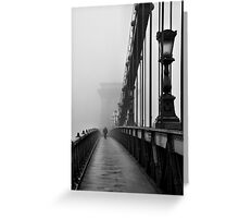 Chain Bridge Greeting Card