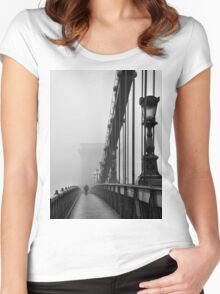 Chain Bridge Women's Fitted Scoop T-Shirt