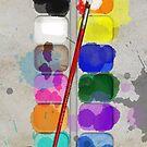 Artists Used Painting Set iPhone Case by Alisdair Binning
