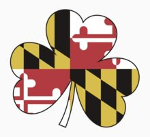 Maryland Flag Four Leaf Clover by canossagraphics