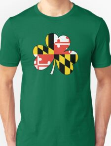 Maryland Flag Four Leaf Clover Unisex T-Shirt