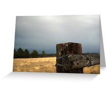 Post and wire Greeting Card
