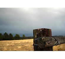 Post and wire Photographic Print