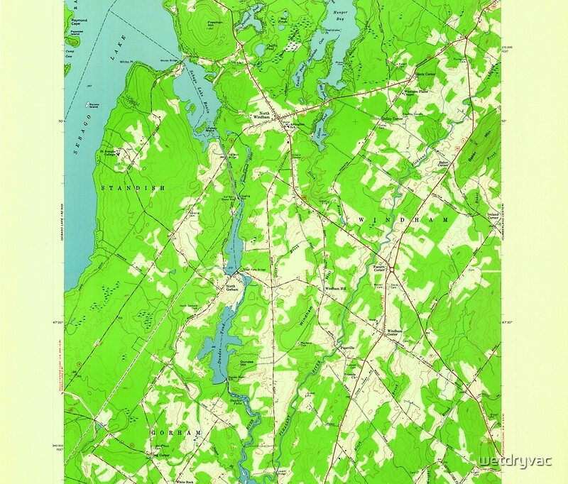 QuotMaine USGS Historical Map North Windham 806991 1957 24000