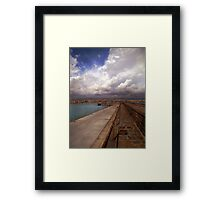 Clouds at the port  Framed Print