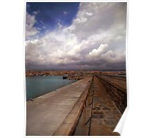 Clouds at the port  Poster