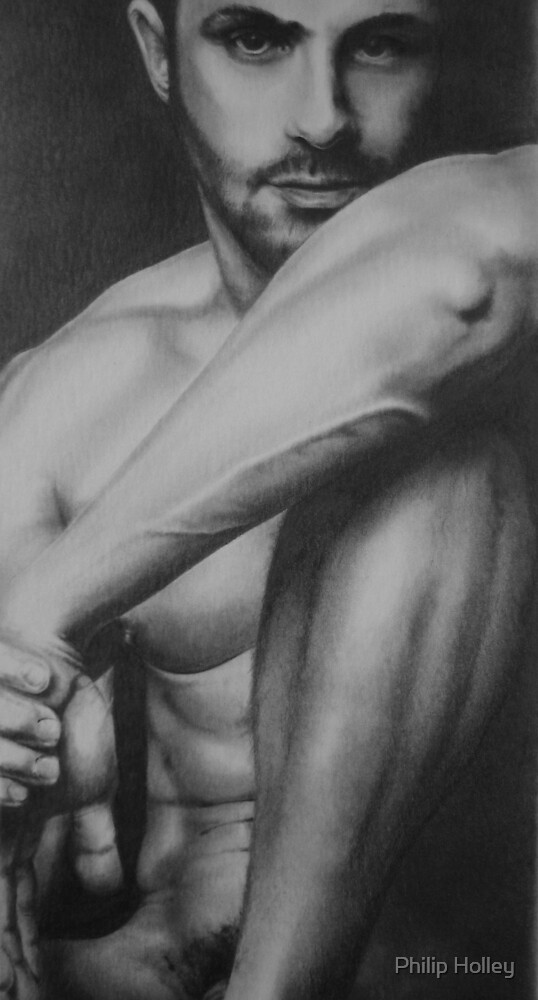 Male Nude 2 by Philip Holley