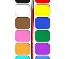 Artists Painting Set iPhone Case by Alisdair Binning