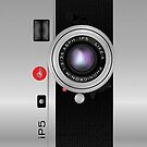 Like-a-Leica Camera (Silver) iPhone Case by Alisdair Binning