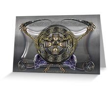Digital Art Ankou Shield  Greeting Card