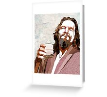Big Lebowski DUDE Portrait Greeting Card
