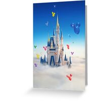 Floating Mickey Balloons Greeting Card
