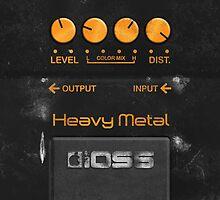Boss Heavy Metal Pedal iPhone Case by Alisdair Binning