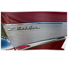 57 Tail Fin in Red Poster