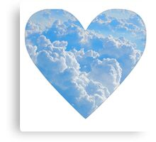Cloud Heart Canvas Print