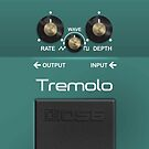 Boss Tremolo Pedal iPhone Case by Alisdair Binning