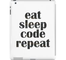 eat sleep code iPad Case/Skin