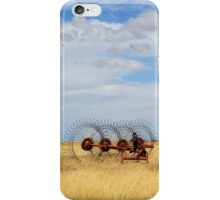 Hay rake - (Farm equipment) Location: Free state, South Africa iPhone Case/Skin