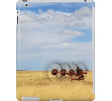 Hay rake - (Farm equipment) Location: Free state, South Africa iPad Case/Skin