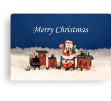 Christmas Express Train Canvas Print