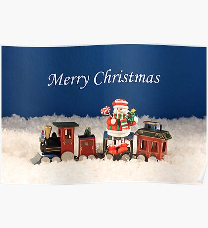 Christmas Express Train Poster
