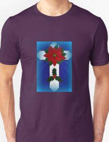 Poinsettia Cross Unisex T-Shirt