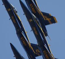 Blue Angels Fast by Happystiltskin