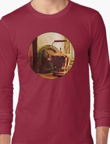 Copper Tea Kettle On Windowsill Long Sleeve T-Shirt