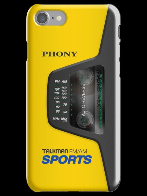 Phony Talkman iPhone Case (Sony Walkman Sports style) by abinning