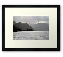 Ullswater, lake and mist Framed Print