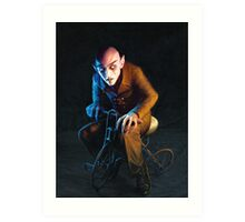 Nosferatu On A Tricycle Art Print