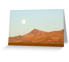 Full Moon and Crescent Peak Greeting Card