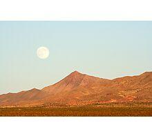 Full Moon and Crescent Peak Photographic Print