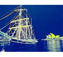 Two Tall Ships in Sydney Harbour Photographic Print