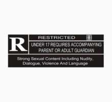 Rated R for content Kids Tee