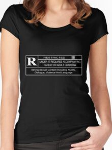 Rated R for content Women's Fitted Scoop T-Shirt