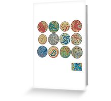 Heat Map Collection Greeting Card