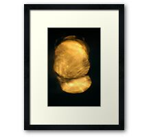 Light Play - Good as Gold Framed Print