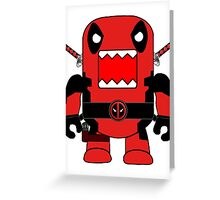 Domo Deadpool Greeting Card