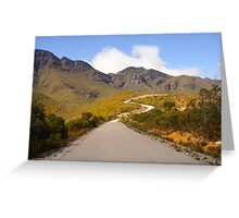 Road to the ranges Greeting Card