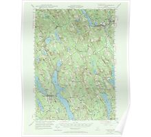 Maine USGS Historical Map Norway 306695 1946 62500 Poster