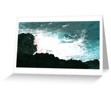 Mesmerizing Blue Swirls Greeting Card