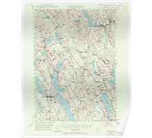 Maine USGS Historical Map Norway 306696 1946 62500 Poster