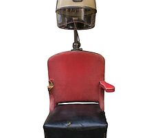 Vintage Retro Barber Hair Dryer And Chair by mrdoomits