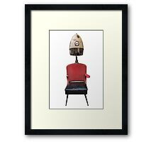 Vintage Retro Barber Hair Dryer And Chair Framed Print