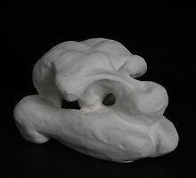 distorted form sculpture ceramic '08 by rateotu