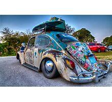 VW Beetle Rat Rod Photographic Print