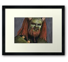Triangle - Olaf the Troll - BtVS Framed Print