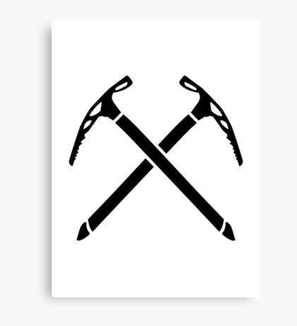 Ice climbing picks axe Canvas Print
